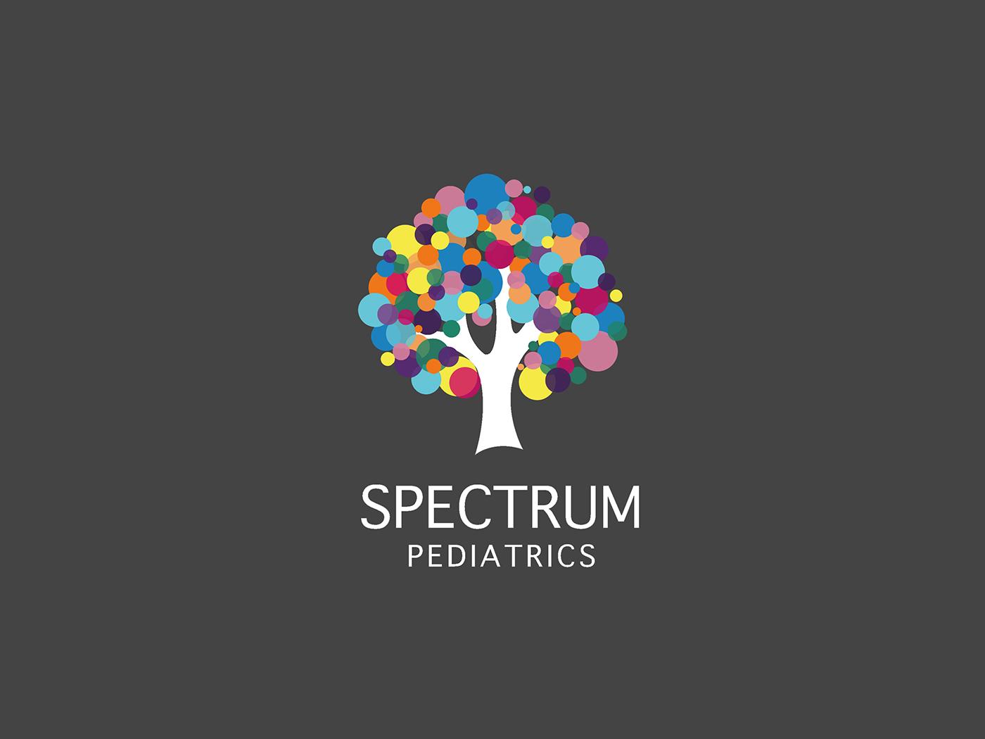 Brand Identity work for Spectrum pediatrics